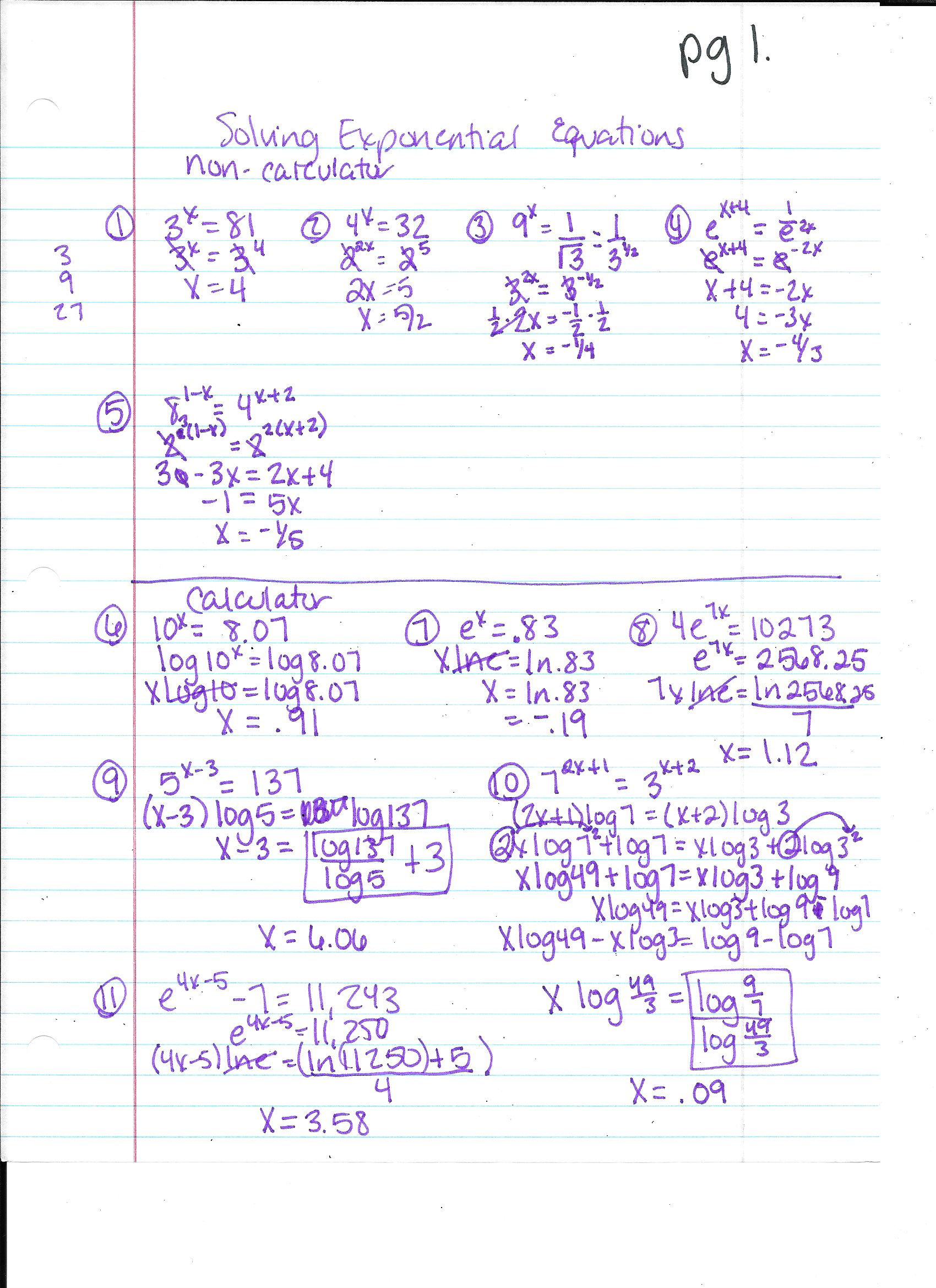 Blog Archives – Solving Exponential and Logarithmic Equations Worksheet